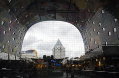 Markthal Building Interior Rotterdam Royalty Free Stock Photography