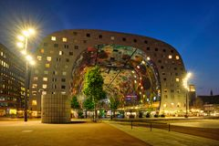 Markthal  Market Hall  building with a market hall underneath in Rotterdam, Netherlands royalty free stock photos