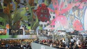Markthal Rotterdam Nederländerna arkivfilmer