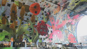 Markthal Rotterdam Netherlands stock video footage