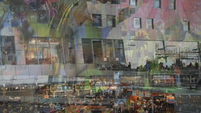 Markthal Rotterdam Países Bajos almacen de video