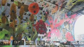 Markthal Rotterdam Países Bajos almacen de metraje de vídeo