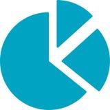 Marktinformations-Kreisdiagramm-Ikone Lizenzfreie Abbildung