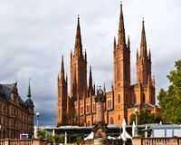 Marktkirche Висбаден Стоковое Изображение