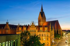 Marktkirche and Old City Hall in Hannover stock images