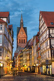 Marktkirche and old town in Hannover, Germany Stock Photography