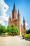 marktkirche Wiesbaden fotografia stock