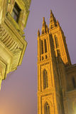Marktkirche in Wiesbaden in Germany. During a lovely evening stock images