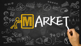 Marktkonzept Stockbilder