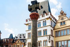 Marktkreuz Market Cross on Hauptmarkt in Trie Royalty Free Stock Image