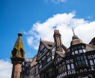 Marktkruis in Chester de stad van de provincie van Cheshire in Engeland stock foto
