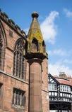 Marktkruis in Chester de stad van de provincie van Cheshire in Engeland royalty-vrije stock fotografie