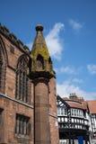 Marktkruis en de Rijen in Chester de stad van de provincie van Cheshire in Engeland royalty-vrije stock foto's