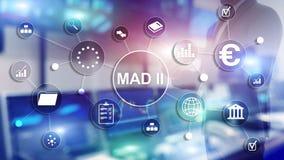 Marktmisbruikrichtlijn en Misbruikverordening MAD 2 Financieel en economisch concept stock foto's