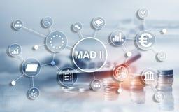 Marktmisbruikrichtlijn en Misbruikverordening MAD 2 Financieel en economisch concept stock afbeelding