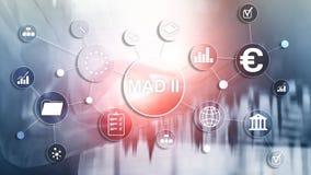 Marktmisbruikrichtlijn en Misbruikverordening MAD 2 Financieel en economisch concept stock illustratie
