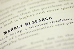 Marktonderzoek Stock Afbeeldingen