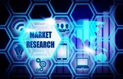 Marktonderzoek blauw modelconcept als achtergrond royalty-vrije illustratie