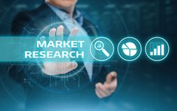 Marktonderzoek Marketing het concept Strategie van Bedrijfstechnologieinternet royalty-vrije stock afbeelding