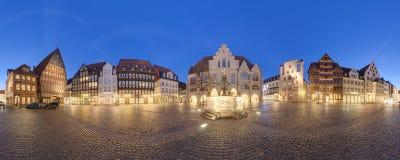 Marktplaats in Hildesheim, Duitsland stock foto's