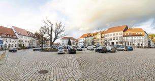 Marktplaats in Slechte Frankenhausen Stock Foto
