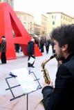Marktplatz attias Livorno stockbilder