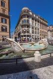 Marktplatz de Spagna in Rom, Italien stockbilder