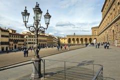 Marktplatz Dei Pitti und Palazzo Pitti Lizenzfreies Stockbild