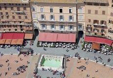 Marktplatz Del Campo, Siena, Toskana, Italien Lizenzfreie Stockbilder