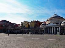 Marktplatz Del Plebiscito, Reiterstatue und Soldaten Stockbilder