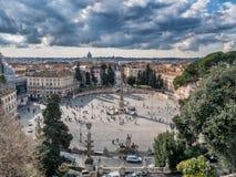 Marktplatz Del Popolo in Rom Stockbild