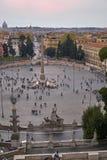 Marktplatz Del Popolo, Vogelperspektive stockbilder