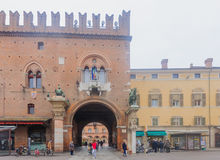 Marktplatz Della Cattedrale, Ferrara Stockbilder