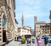 Marktplatz Della Signoria in Florenz Lizenzfreies Stockbild