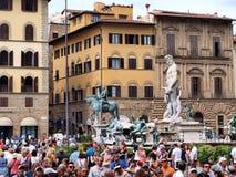 Marktplatz della Signoria, Florenz, Italien Lizenzfreie Stockbilder