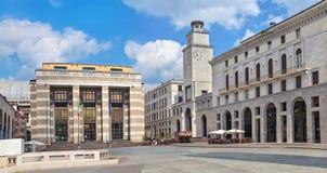 Marktplatz della Vittoria in Brescia stockfotos
