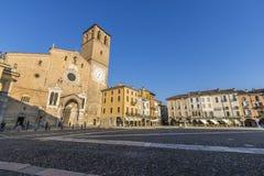 Marktplatz della Vittoria, Lodi, Italien Stockbilder