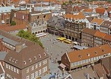 Marktplatz der Hanseatic Stadt von Luebeck Lizenzfreie Stockfotos
