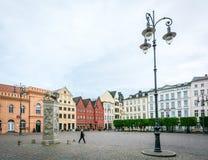 Marktplatz des Schwerins in Deutschland Stockbilder