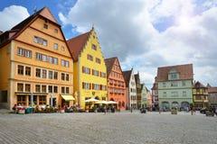 Marktplatz en el der Tauber, Alemania del ob de Rothenburg imágenes de archivo libres de regalías