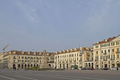 Marktplatz Galimberti in Cuneo Stockfotografie