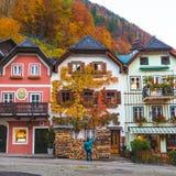 Marktplatz in Hallstatt in the Autumn Stock Photography