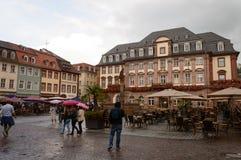 Marktplatz Heidelberg przy jesień czasem, Niemcy Obraz Royalty Free