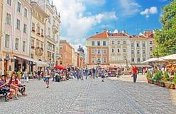 Marktplatz - historisch und Ferienort der Stadt in Lemberg, Ukraine lizenzfreies stockfoto