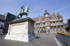 Marktplatz i Dusseldorf, Tyskland royaltyfri bild