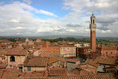 Marktplatz IL Campo Siena Italien, bis Lizenzfreie Stockfotografie
