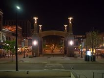 Marktplatz, Knoxville, Tennessee, die Vereinigten Staaten von Amerika: [Nachtleben in der Mitte von Knoxville] lizenzfreie stockbilder