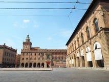 Marktplatz maggiore Bologna lizenzfreie stockbilder