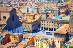 Marktplatz Maggiore-Bologna Italien lizenzfreie stockfotografie