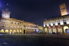 Marktplatz Maggiore im Bologna Lizenzfreies Stockfoto